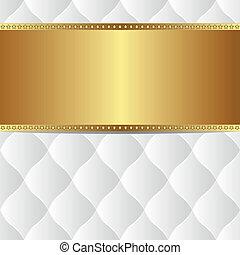 blanco, oro, plano de fondo