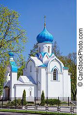 blanco, ortodox, iglesia