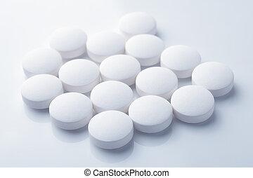 blanco, píldoras