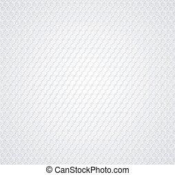 blanco, panal, en, fondo gris