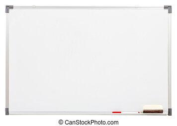blanco, panel blanco, aislado, blanco