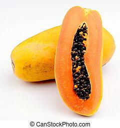blanco, papaya, plano de fondo