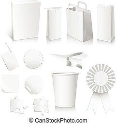 blanco, papel, colección