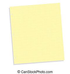 blanco, papel cuaderno