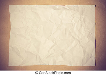 blanco, papel, en, madera, tabla, vendimia, color