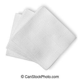 blanco, papel, servilletas