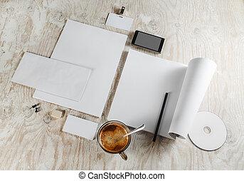 blanco, papelería