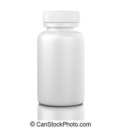 blanco, pastillero, aislado