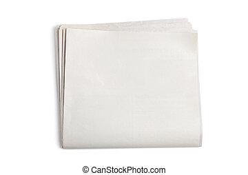 blanco, periódico