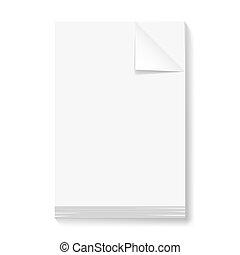 blanco, pila, papeles