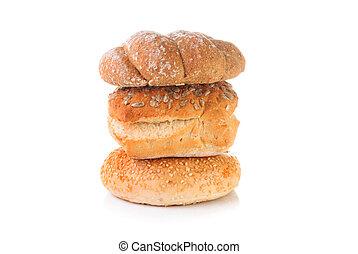 blanco, Pila, Plano de fondo,  bread