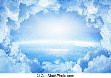 blanco, planeta, nubes, tierra