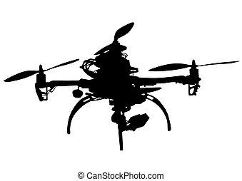 blanco, quadrocopter