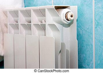 blanco, radiador