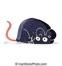 blanco, ratón, caricatura