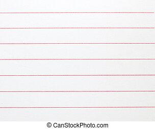 blanco, rayado, papel cuaderno, plano de fondo, o, textured