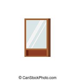 blanco, rectangular, aislado, armario, marco, fondo., de ...