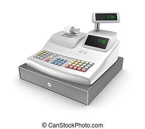 blanco, registro, efectivo, plano de fondo