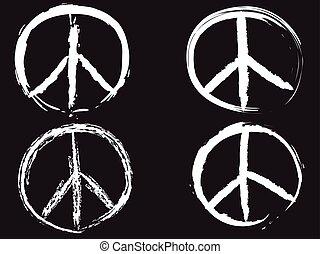 blanco, símbolo, garabato, paz