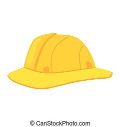 blanco, seguridad, fondo amarillo, casco