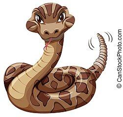 blanco, serpiente de cascabel, plano de fondo