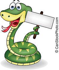 blanco, serpiente, señal