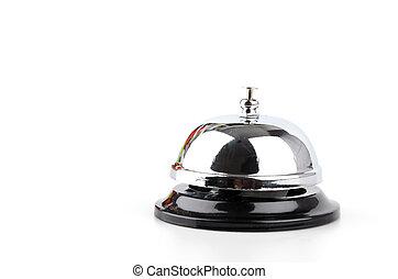 blanco, servicio, aislado, plano de fondo, campana