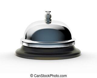 blanco, servicio, plano de fondo, campana