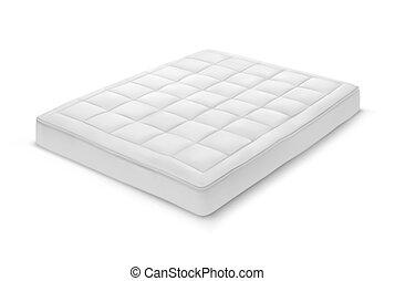 blanco, shadow., colchón, dormitorio, realista