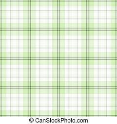 blanco, tartán, verde, seamless, y