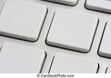 blanco, teclado, botones