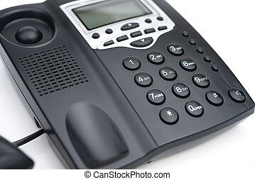 blanco, teléfono negro, plano de fondo