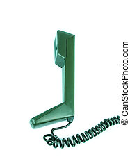blanco, teléfono, plano de fondo, receptor