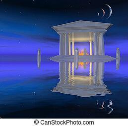 blanco, templo