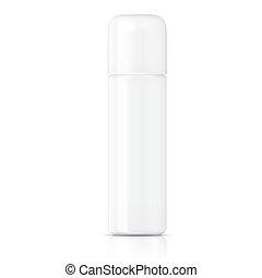 blanco,  Tubular, plantilla, botella