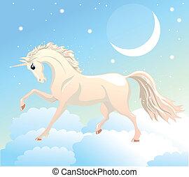 blanco, unicornio
