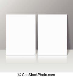 blanco, vacío, revista, plantilla