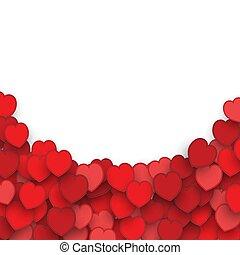 blanco, valentines, fondo, corazón, día, pegatinas,...