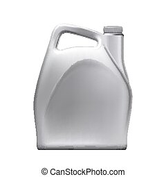 blanco, vector, coche, aceite, jerry, motor, lata, lubricación