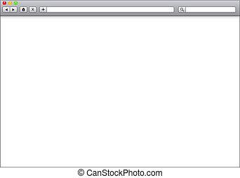 blanco, ventana, de, examinador internet, plantilla, ilustración