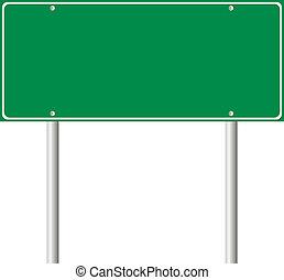 blanco, verde, muestra del camino
