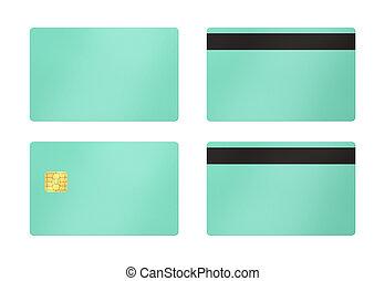 blanco, verde, tarjeta, plano de fondo