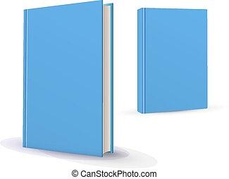 blanco, vertical, libros, cubierta, plantilla