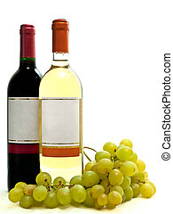 blanco, vid, vino rojo