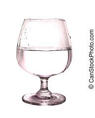 blanco, vidrio., aislado, plano de fondo
