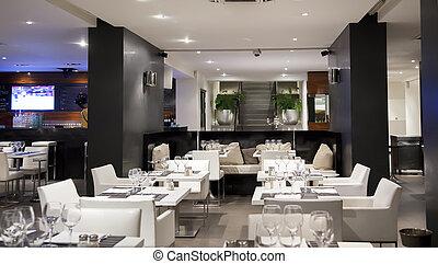 blanco, vino, restaurante