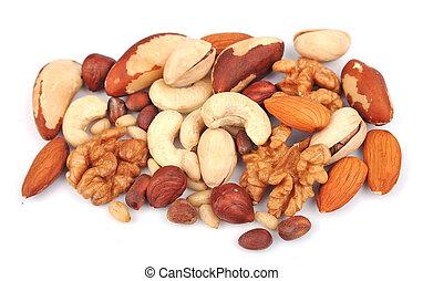 blanda, av, nötter