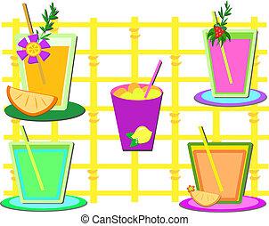 blanda, av, söt, drycken
