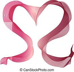 blanda sig, symbol, rött hjärta