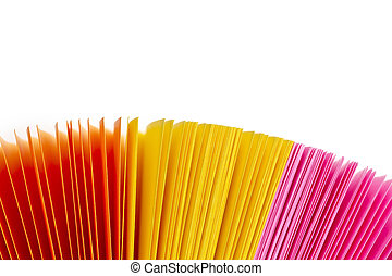 blandad, färgrik, papper